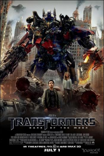 transformers dark of the moon optimus prime poster. Transformers: Dark of the Moon
