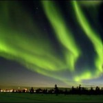 An unusual change in the northern lights