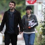 Rachel McAdams and Michael Sheen holding hands in Toronto