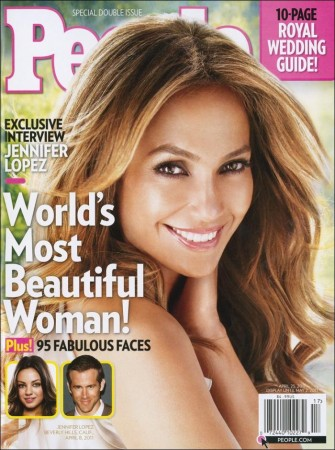 Jennifer Lopez named Most Beautiful Woman of 2011