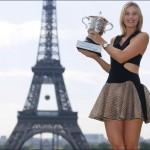 Maria Sharapova dons Eiffel Tower-inspired dress