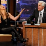 Jennifer Aniston wows in leather dress