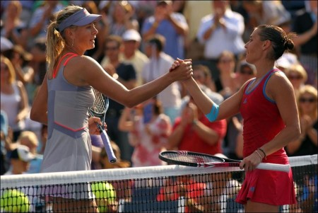 Pennetta shocks Sharapova at U.S. Open