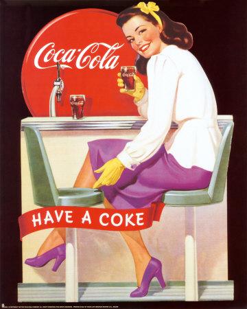 Vintage Coca Cola Art Print