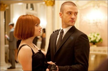 Amanda Seyfriend and Justin Timberlake discuss 'In Time'