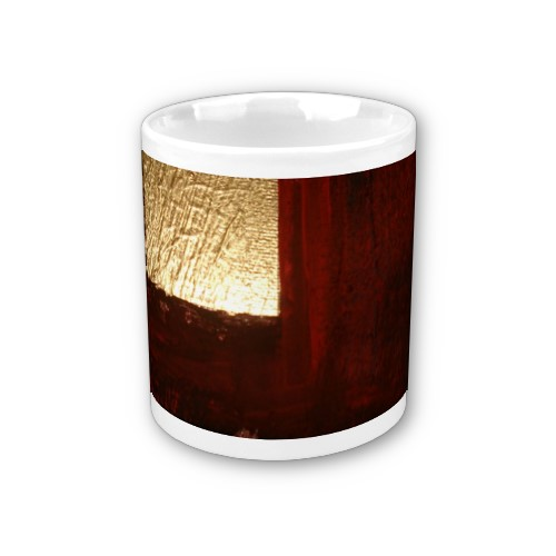 Brown Red Gold Abstract Mug