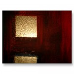 Brown Red Gold Abstract Custom Postcards and Mugs
