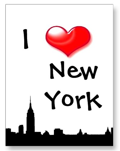 I Love New York City NY Silhouette Postcard postcard