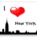 I Love New York City – Silhouette of NY Postcards