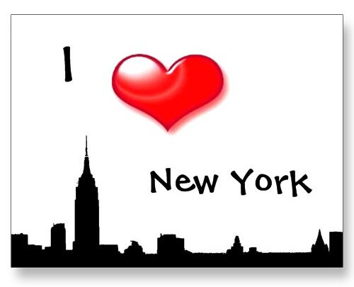 I Love New York City - Silhouette of NY Postcard postcard