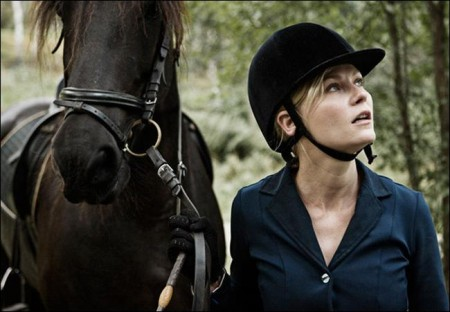 "Kirsten Dunst rises out of ""Melancholia"""