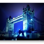 London Bridge at Night Postcards