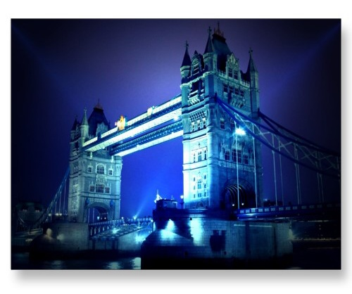 London Bridge at Night Postcard