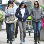 Nikki Reed, Elizabeth Reaser and Kristen Stewart in Vancouver
