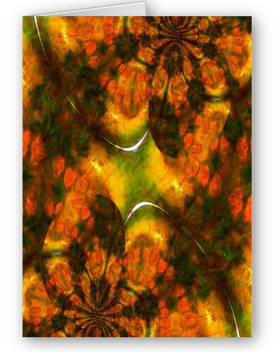 Oriental Asian Abstract card