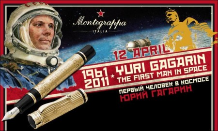 Limited Edition Pens for Yuri Gagarin by Montegrappa