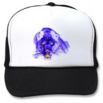 Blue Digital Pop Art Jaguar Mesh Hats
