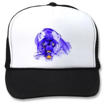 Blue Digital Pop Art Jaguar hat