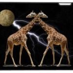 Cosmic Giraffes iPad Skin