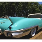 Elvis Presley's Green Cadillac Convertible Poster
