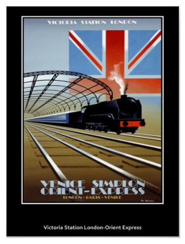 Orient Express Vintage Poster print