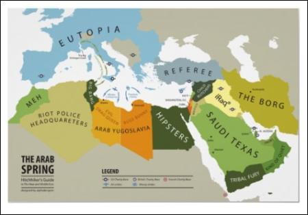 The Arab Spring Map print