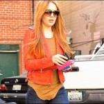 Lindsay Lohan went red hair again