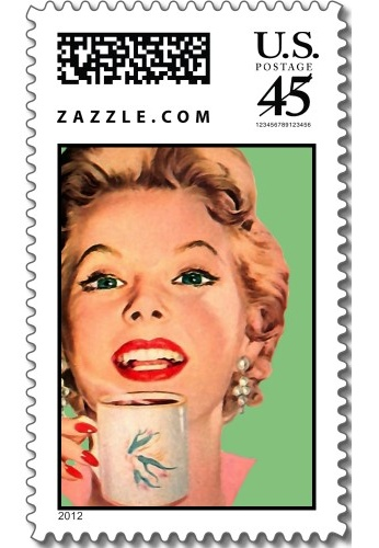 The Kitsch Bitsch: Vintage Coffee Graphic Stamp