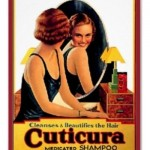 Vintage Cuticura Shampoo Ad Canvas Print