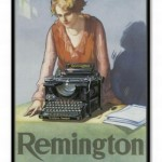 Vintage Remington Typewriter Ad Poster