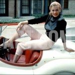 Anita Ekberg on Her Jaguar in Late 1950s