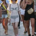 Emma Roberts rocks edgy bikini look