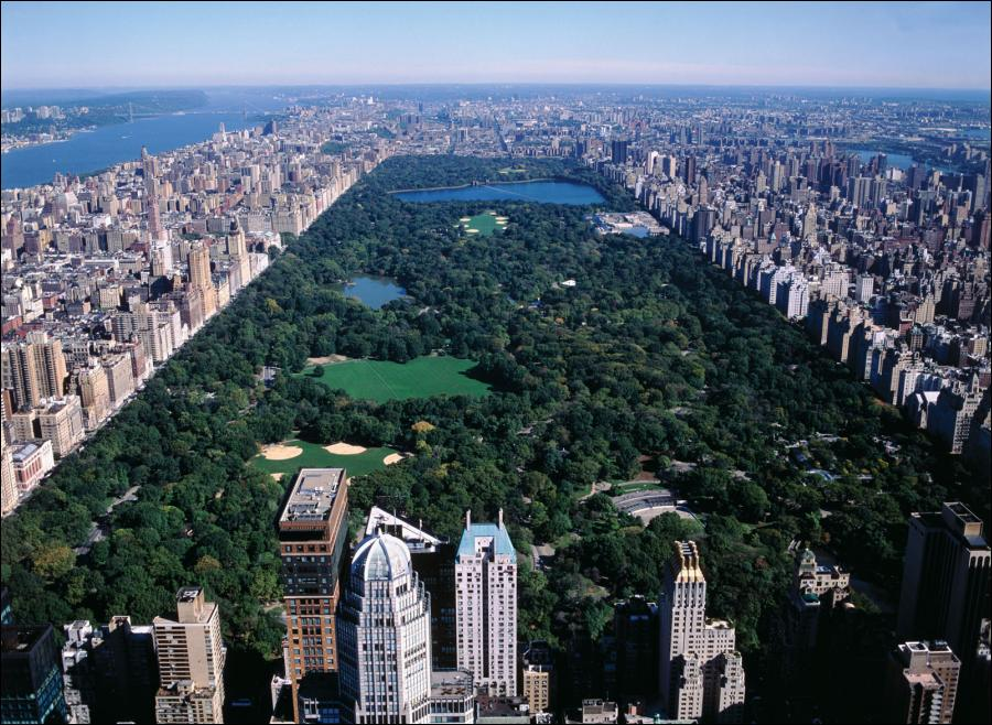 Aerial View Of Central Park In New York City Made In Atlantis