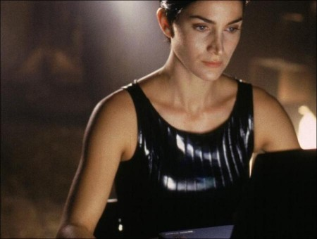 5 Carrie Anne Moss in Leather