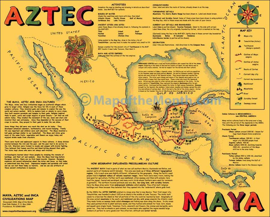 mayan incan aztec empires Some ideas are: mayan social hierarchy, incan terrace farming, aztec games, a day in the life of an incan child, aztec decline, chocolate and the mayans, etc each child needs.