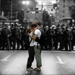 Protest Kiss in Vancouver