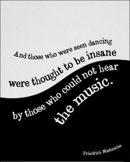 Friedrich Nietzsche quote poster Black and white