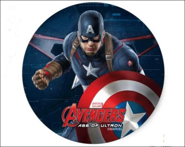 Captain America Character Art Classic Round Sticker