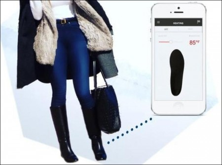 Smart boots warms up using a mobile app