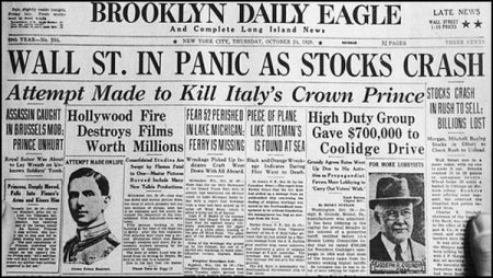 Remembering Wall Street Crash in 1929