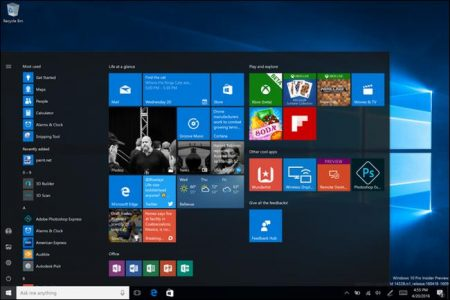 Here's Microsoft's new look Start menu for Windows 10