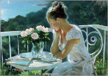 Sensible Women by the Russian Painter Vladimir Volegov